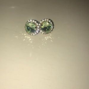 Mint green costume earrings